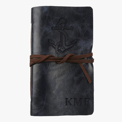 Anchor Custom Genuine Leather-Bound Mini Journal