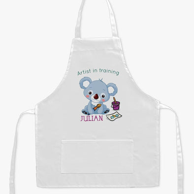 Artist In Training Personalized Kids Apron.