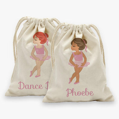 Ballerina Personalized Drawstring Sack.