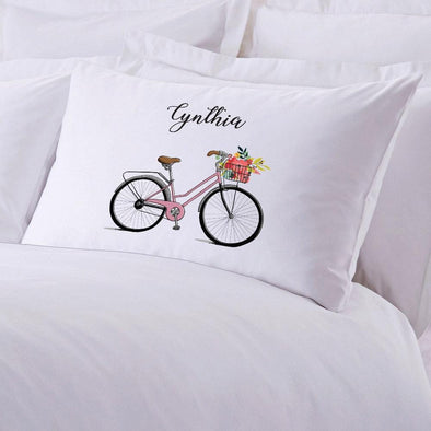 Bicycle Personalized Kids Sleeping Pillowcase