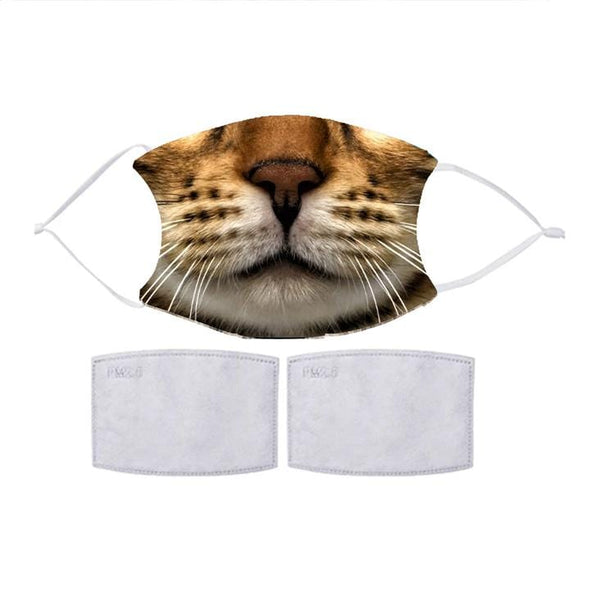 Exclusive Sale | CAT FACE Fashion Design Printed Reusable Face Mask.