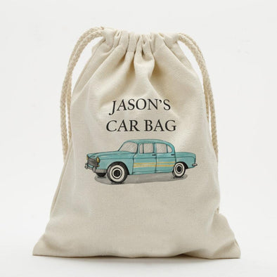 Car Bag Custom Drawstring Sack.