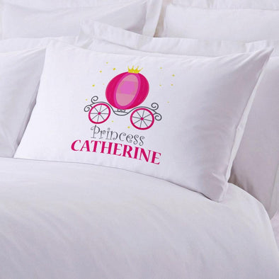 Princess Carriage Personalized Kids Sleeping Pillowcase.