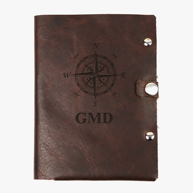 Compass Monogram Genuine Leather Passport Holder.