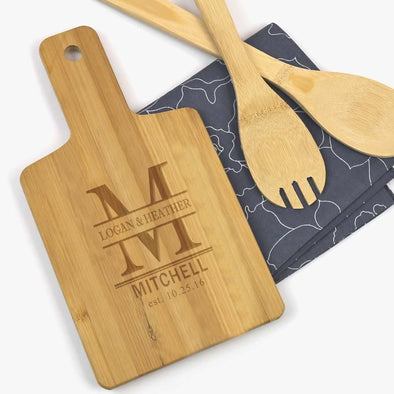 Couples Personalized Wooden Serving Board