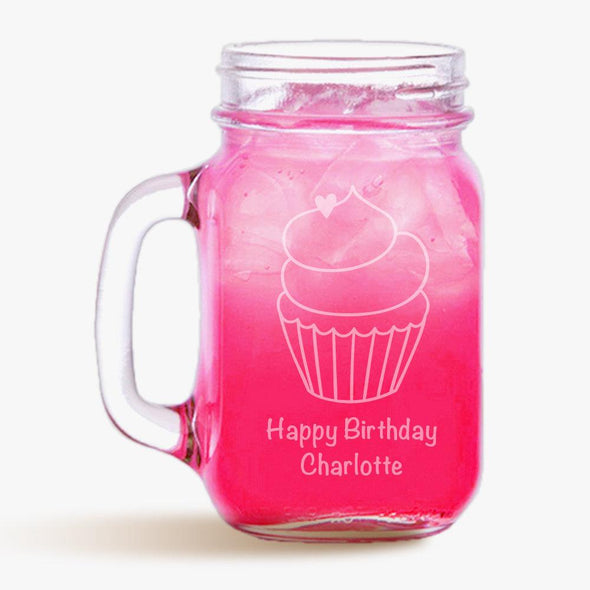 Cupcake Customized Mason Jar