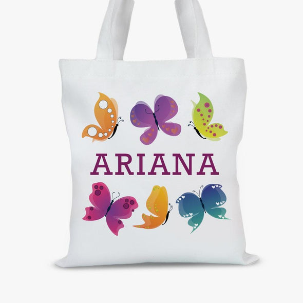 Custom Butterfly Kids Tote Bag.
