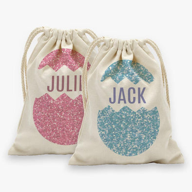 Custom Easter Egg Drawstring Sack.