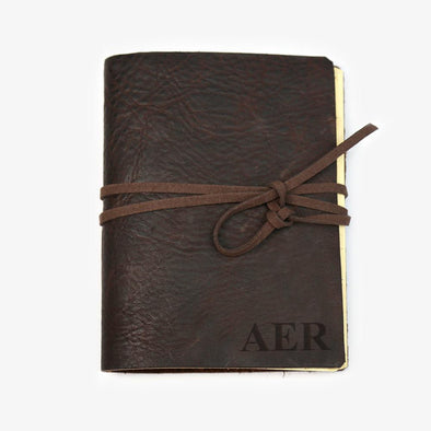 Custom Genuine Leather Antique Wrap Journal - Medium.