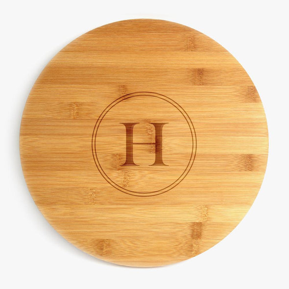 Exclusive Sale - Custom Initial Bamboo Lazy Susan