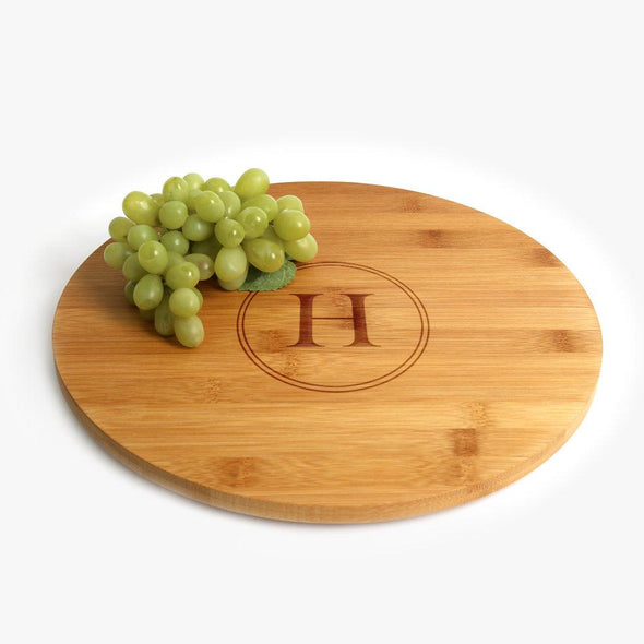 Exclusive Sale - Custom Initial Bamboo Lazy Susan.