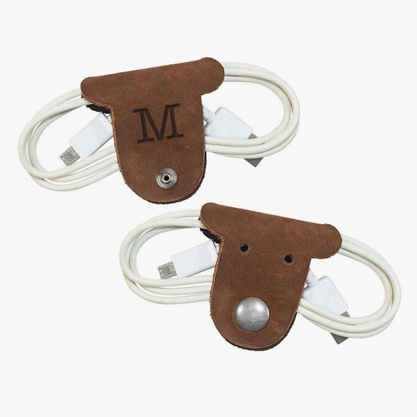 Flash Sale - Custom Initial Kids Leather Puppy Cord Holder