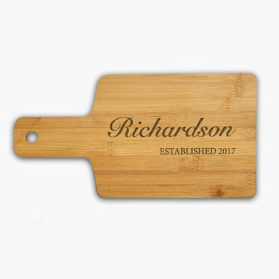Custom Family Name Wooden Serving Board