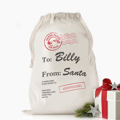Exclusive Sale - Custom Santa's Special Delivery Christmas Drawstring Sack