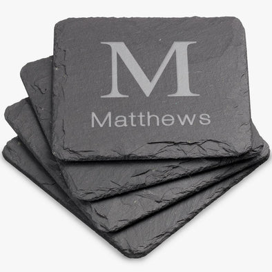 Custom Square Slate Coasters