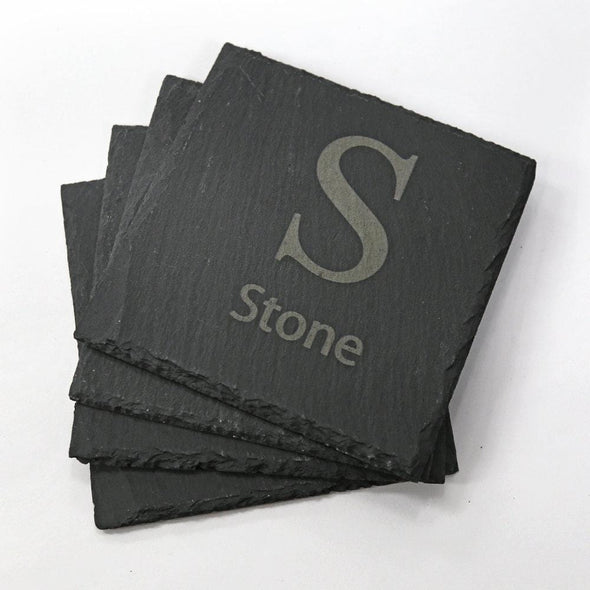 Custom Square Slate Coasters.