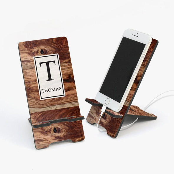 Custom Wooden Design Cell Phone Stand