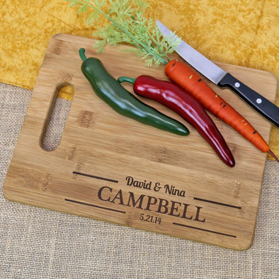 Exclusive - Customized Couples Cutting Board