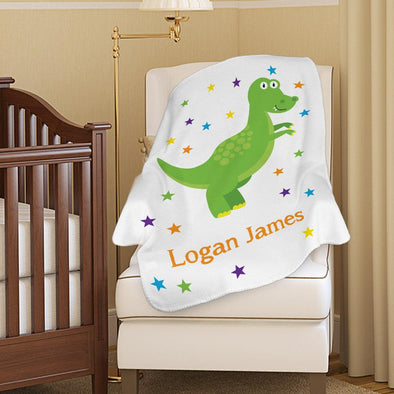 Customized Dinosaur Baby Blanket