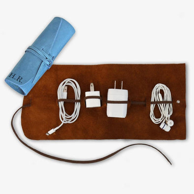 Customized Genuine Leather Multi Cord Large Organizer.