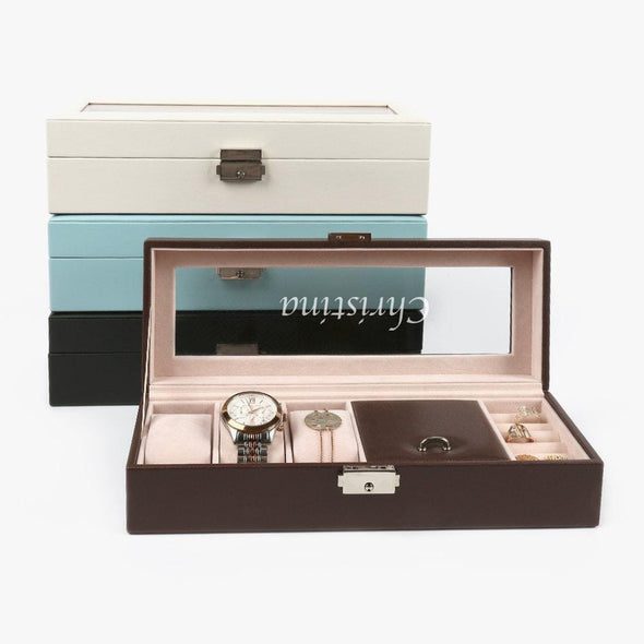 Customized Name Small Watch Case & Jewelry Storage Valet.