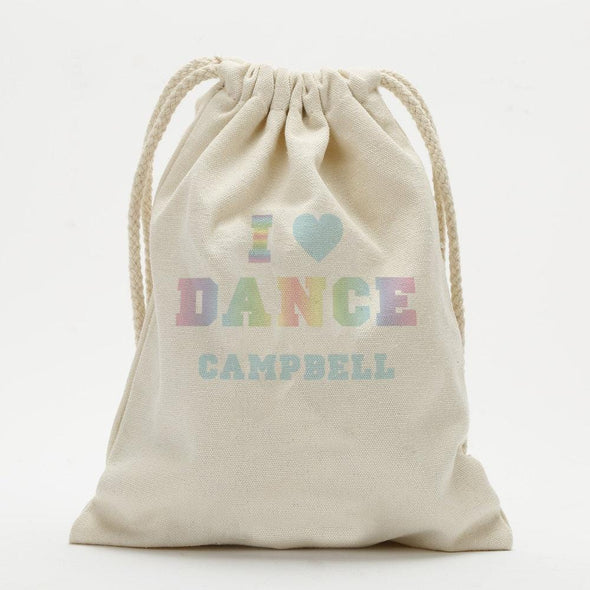 Dance Personalized Drawstring Sack.