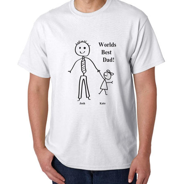 Personalized Worlds Best Dad T-Shirt.