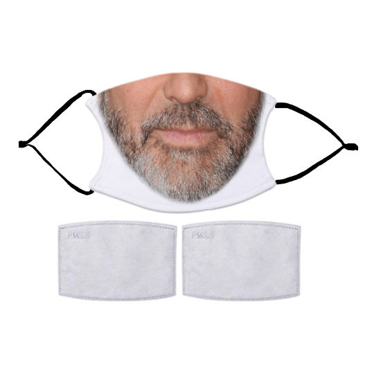 Choose from our FUN MEN'S MASKS with optional filters. Nose Wire included. Adult & Child Face Mask - Designed and finished in USA