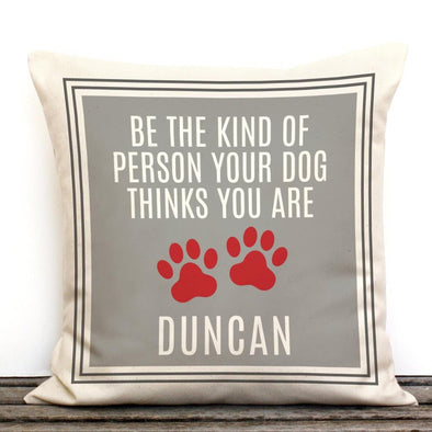 Dog Paws Personalized Canvas Decorative Canvas Throw Pillow.
