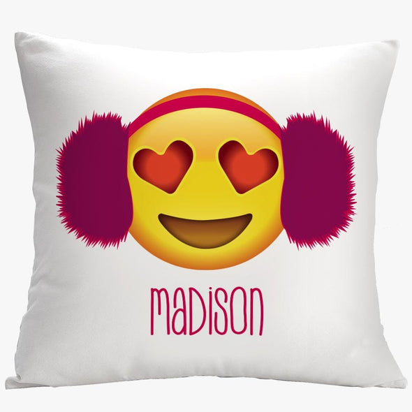 Earmuffs Custom Love Emoji Decorative Cushion Cover