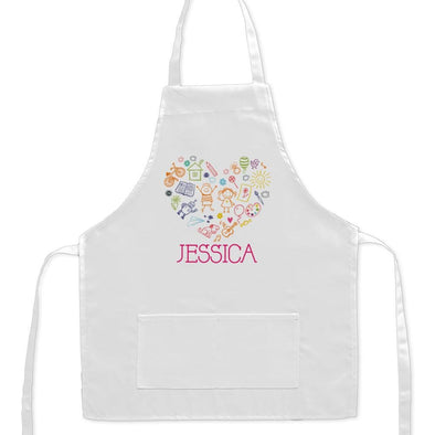 Exclusive Sale - Happy Heart Personalized Kids Craft Apron