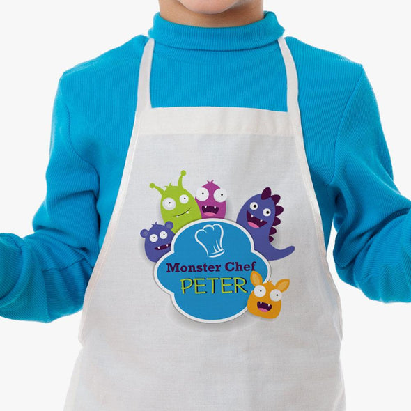 Exclusive Sale - Little Monster Chef Personalized Kids Apron