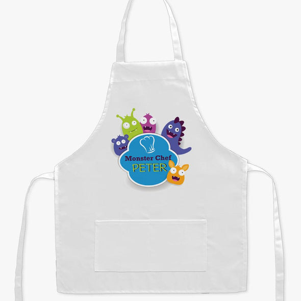Exclusive Sale - Little Monster Chef Personalized Kids Apron.