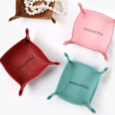 Exclusive Sale - Personalized Genuine Leather Mini Catchall