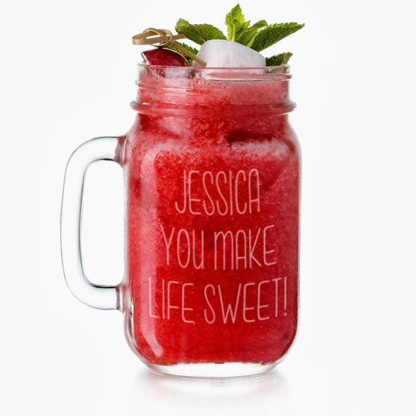 Exclusive Sale - Personalized Jessica Mason Glass Jar
