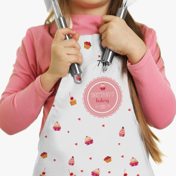 Exclusive Sale - Personalized Sweets Bakery Kids Craft Apron.