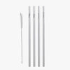 Custom Reusable Straight Stainless Steel Drinking Straws.
