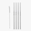 Reusable Custom Straight Stainless Steel Drinking Straws.