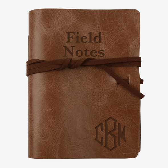 Field Notes Personalized Leather-Bound Mini Journal.