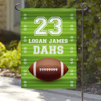 Football Personalized Garden Flag.