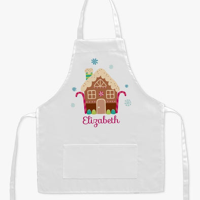 Gingerbread House Personalized Kids Apron