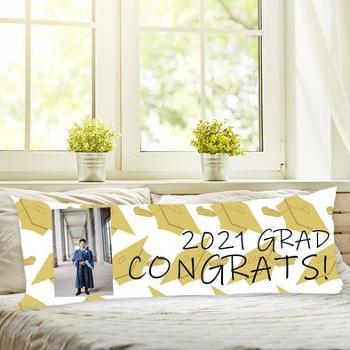 GRADUATION Custom Body Pillow Case of Your Photo | Create Your Own Personalized Photo Pillow