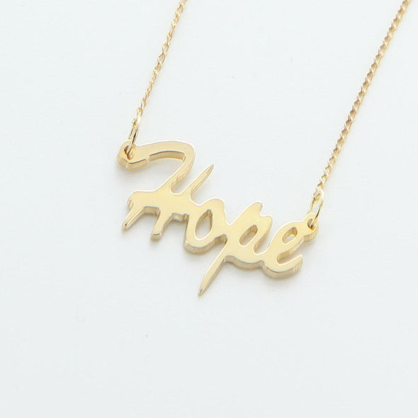 Exclusive Sale | HOPE Sterling Silver Necklace.