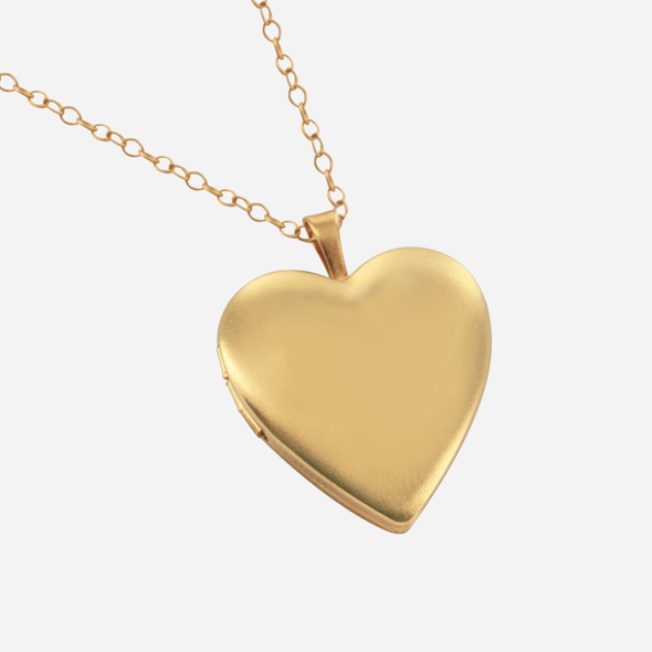 Heart Locket Pendant in Yellow or Rose Gold over Silver