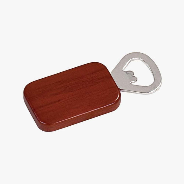 Magnetic Rosewood Bottle Opener Non-Personalized
