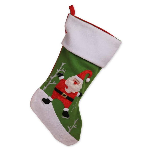 Non Personalized | Ice Skating Santa Christmas Stocking.