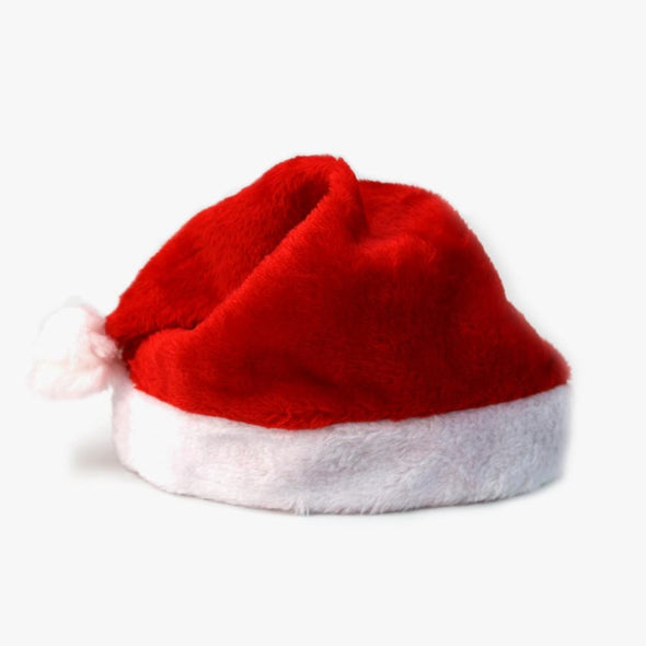 Exclusive Sale | Set of 5 Plush Christmas Santa Hats Bundle | Bulk Sale.