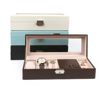 Watch & Jewelry Valet Organizer | Leather Watch Box.