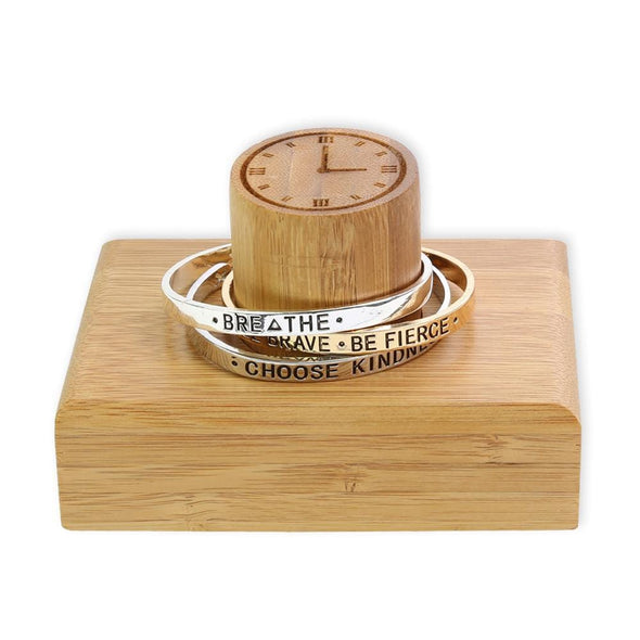 Bamboo Wood Bracelet & Watch Holder Organizer.