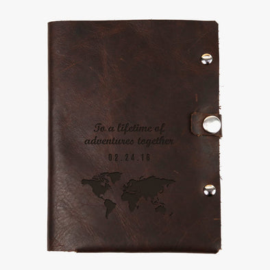 Exclusive Sale - Lifetime Adventure Custom Genuine Leather Passport Holder.